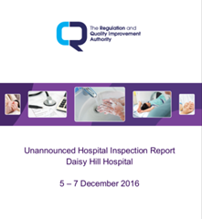 Unannounced Inspection at Daisy Hill Hospital, March 2017