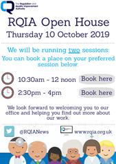 RQIA Open House - 10 October 2019