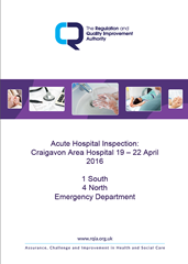 Craigavon Area Hospital Unannounced Inspection Report Published