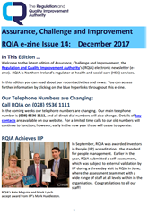 Latest RQIA E-Zine Published