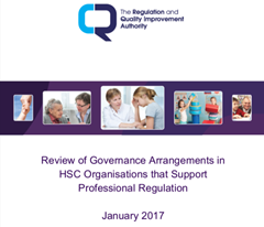 Review of Governance Arrangements in HSC Organisations that Support Professional Regulation, January 2017