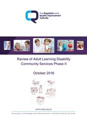 RQIA Publishes Review of Community Services for Adults with a Learning Disability